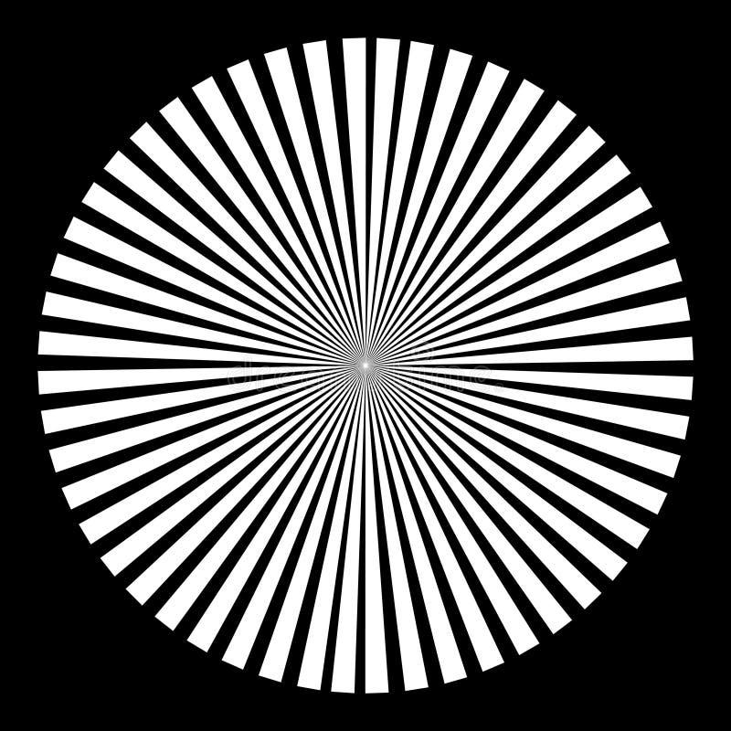 Fondo sotto forma di sfera bianca dei raggi illustrazione vettoriale