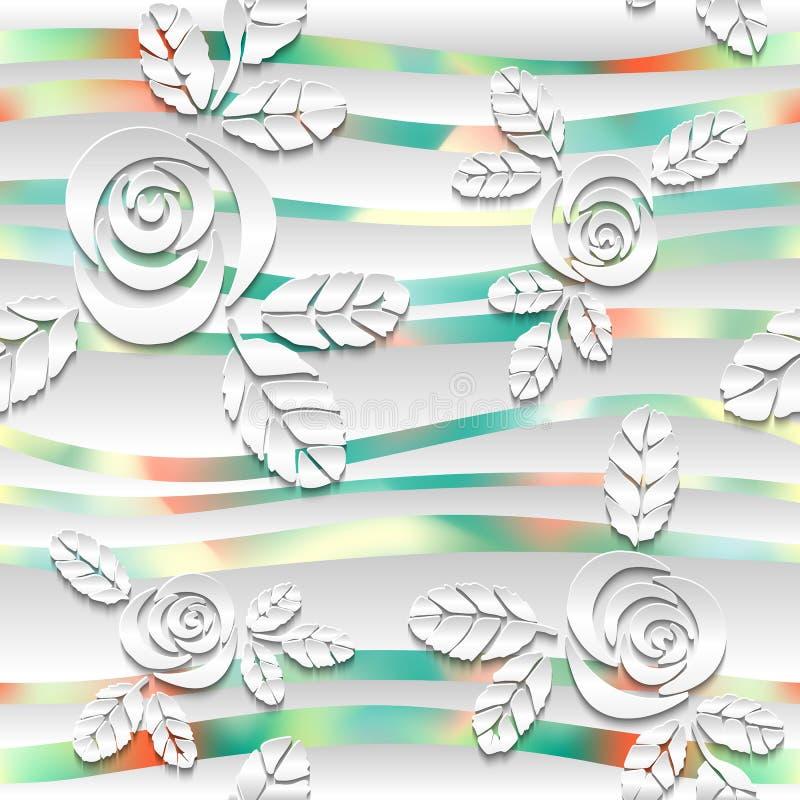 Fondo spheric bianco senza cuciture dell'estratto 3D illustrazione vettoriale