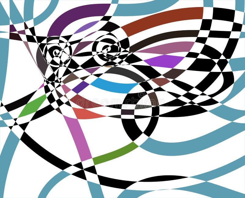 Fondo a spirale astratto moderno del modello illustrazione di stock