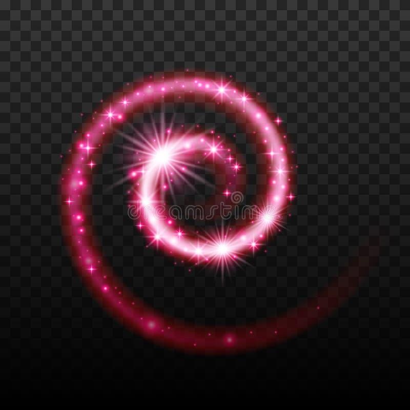 Fondo a spirale brillante magico di effetto della luce illustrazione di stock