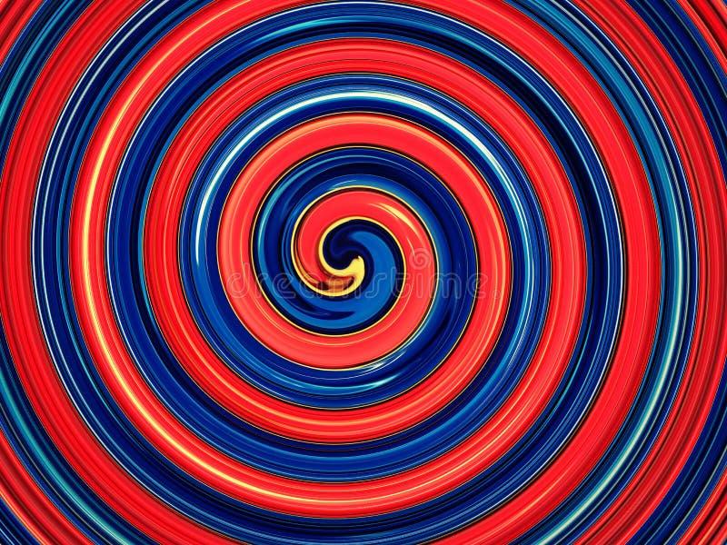 Fondo a spirale rosso e blu royalty illustrazione gratis