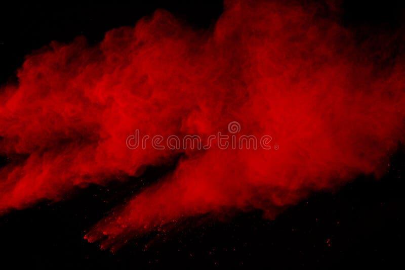 Fondo splatted polvere rossa astratta, moto della gelata polvere verde d'esplosione/di lancio rossa della polvere illustrazione di stock