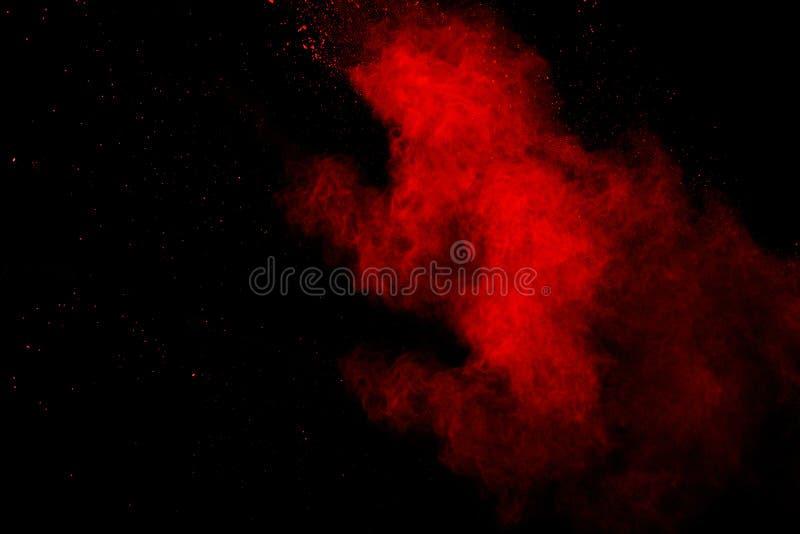 Fondo splatted polvere rossa astratta, moto della gelata polvere verde d'esplosione/di lancio rossa della polvere fotografia stock