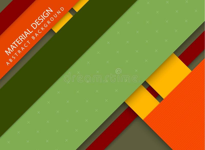 Fondo spogliato estratto - stile materiale di progettazione royalty illustrazione gratis