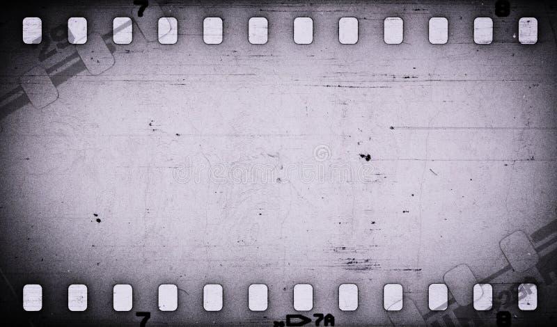 Fondo sporco della striscia di pellicola graffiato gray di lerciume illustrazione di stock