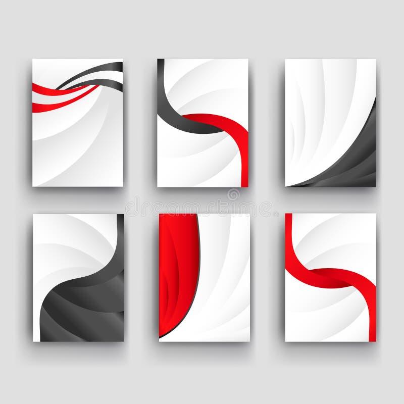 Fondo stabilito dell'onda minima della curva di vettore con ombra e spazio per testo e messaggio per il materiale illustrativo di illustrazione di stock