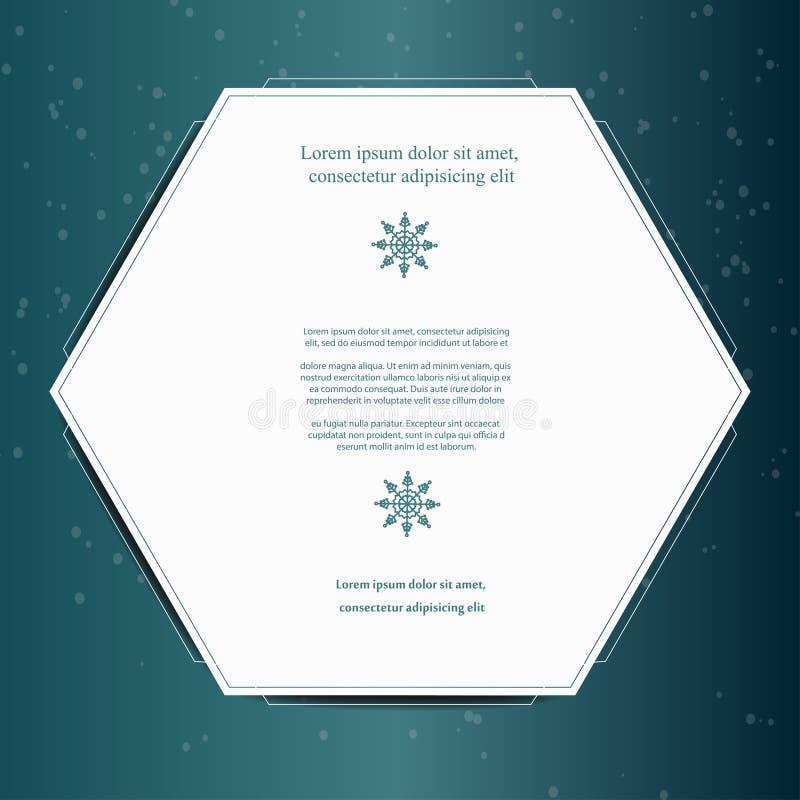 Fondo stagionale di inverno per progettazione con lo spazio della copia Cartolina d'auguri di natale con i fiocchi di neve royalty illustrazione gratis
