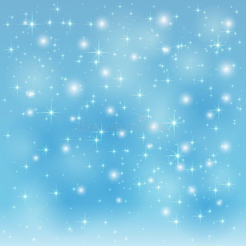 Fondo stellato blu illustrazione vettoriale