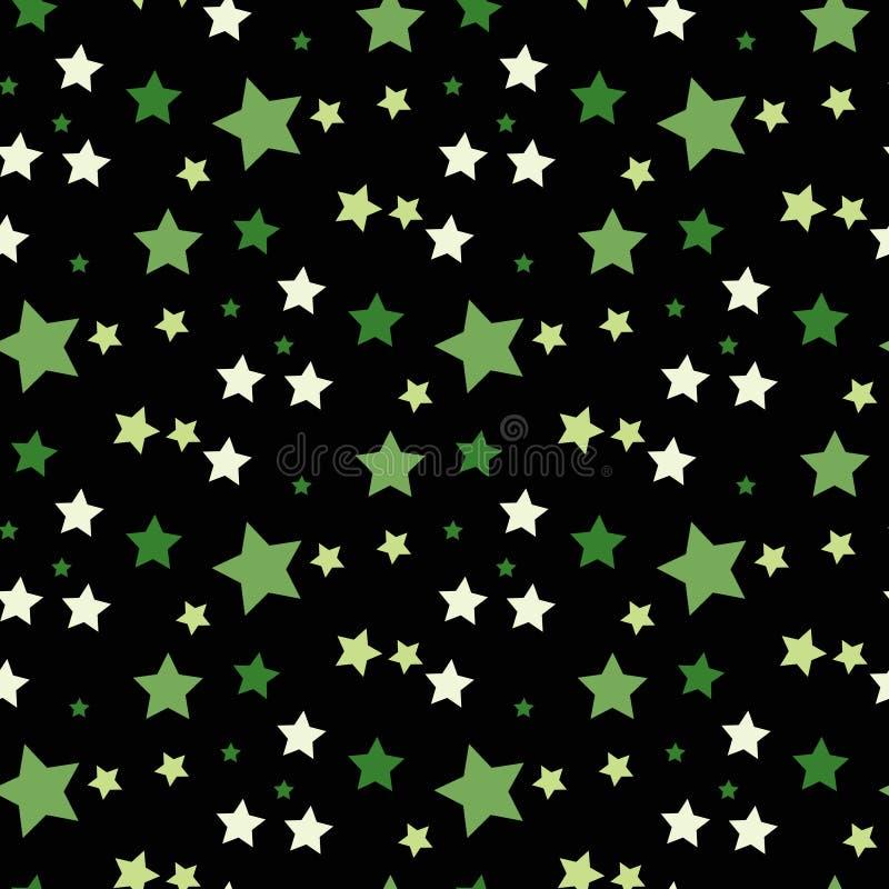 Fondo stellato verde Stelle molto piccole La celebrazione dei coriandoli, decorazione astratta verde di caduta per il partito, co royalty illustrazione gratis