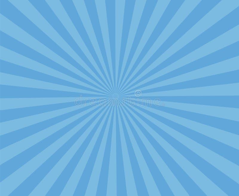 Fondo a strisce di arte blu La banda moderna rays il fondo illustrazione vettoriale