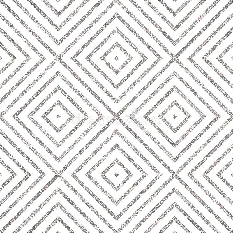 Fondo a strisce diagonale argenteo astratto royalty illustrazione gratis