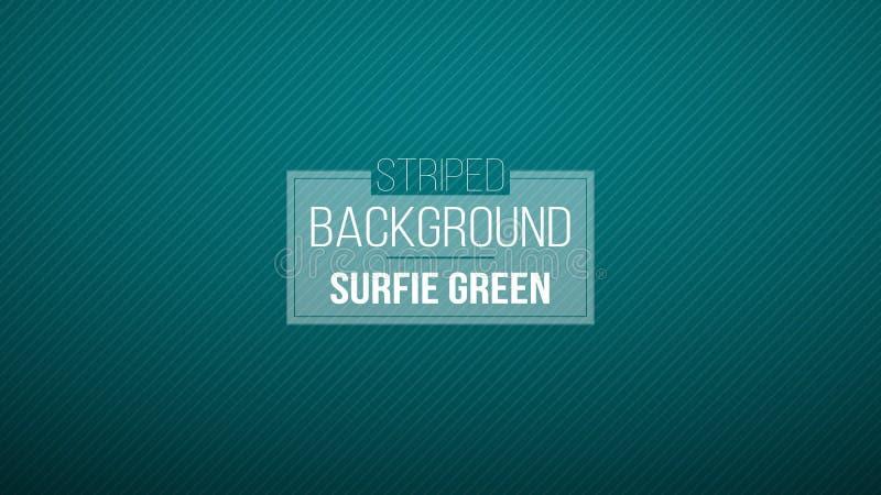 Fondo a strisce verde blu scuro Illustrazione di vettore Nuovo di zecca modello per la vostra progettazione di affari Fondo vario immagine stock
