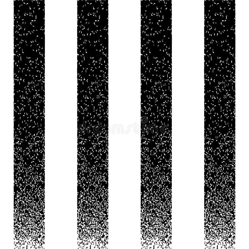 Fondo a strisce verticale di struttura nera di lerciume illustrazione vettoriale