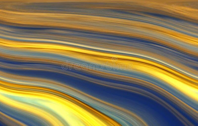 Fondo, struttura, colori blu e di contrapposizione delle bande giallo luminoso, blu, fotografia stock libera da diritti