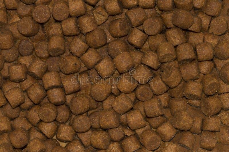 Fondo, struttura di alimentazione animale granulata fotografia stock