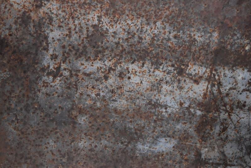 Fondo strutturato arrugginito blu del metallo della pittura della sbucciatura fotografia stock libera da diritti