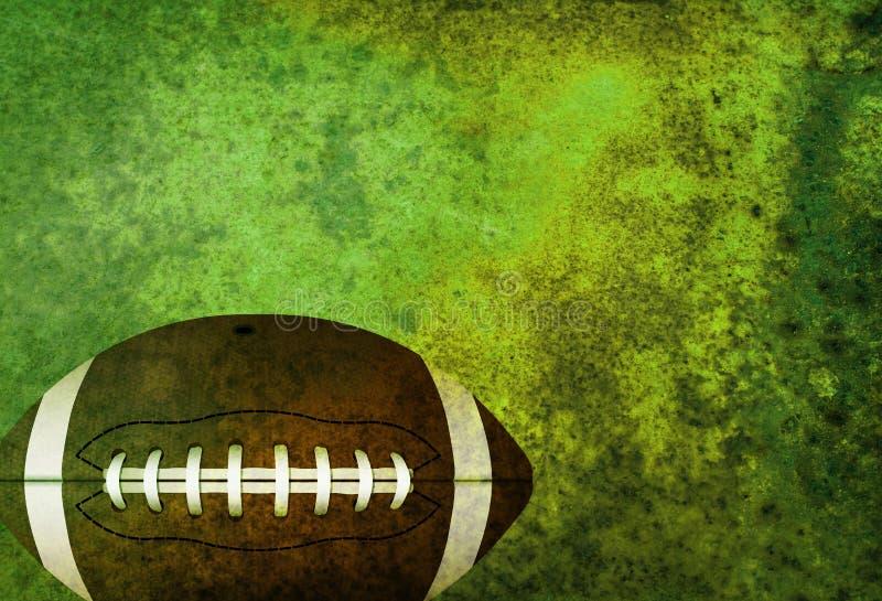 Fondo strutturato del campo di football americano con la palla illustrazione di stock