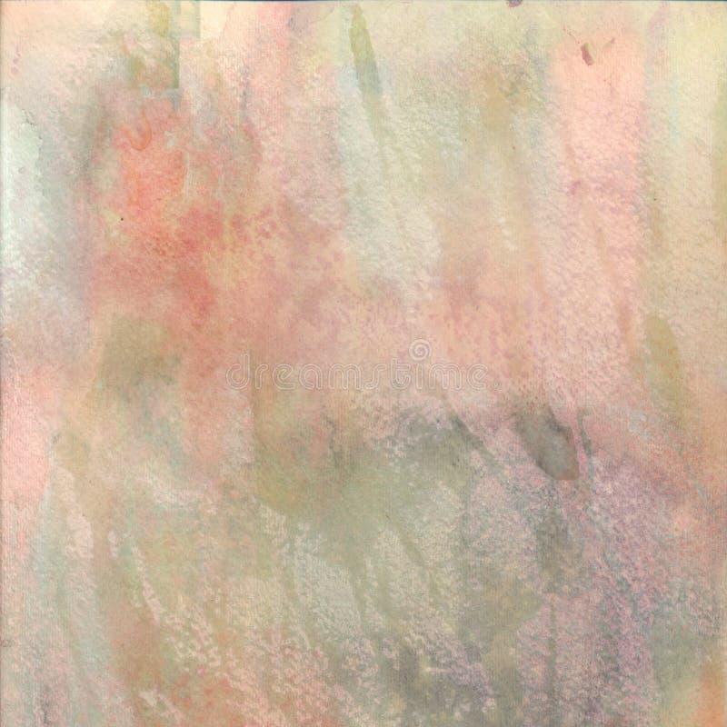 Fondo strutturato dell'acquerello nei colori pastelli illustrazione vettoriale