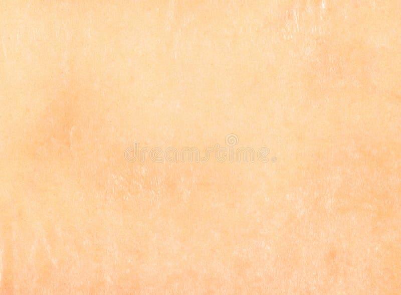 Fondo strutturato della vecchia pergamena di carta d'annata stagionata beige leggera semplice fotografie stock