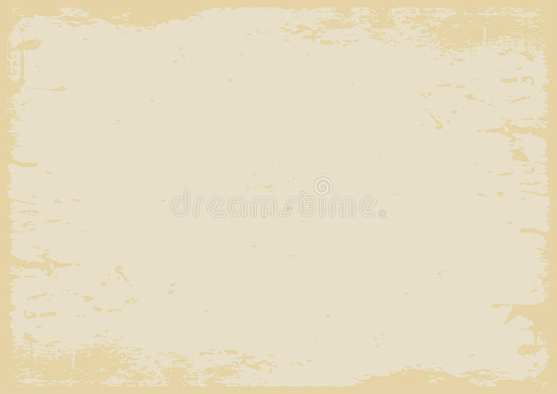 Fondo strutturato di lerciume giallo pastello con il confine illustrazione vettoriale