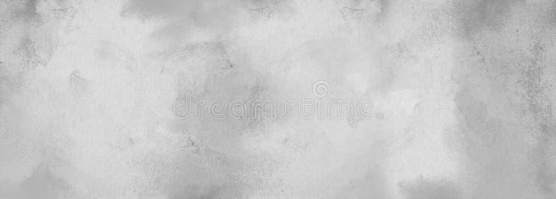 Fondo strutturato monocromatico astratto grigio con i punti di pittura L'effetto di intonacare una vecchia parete o carta con inc fotografia stock