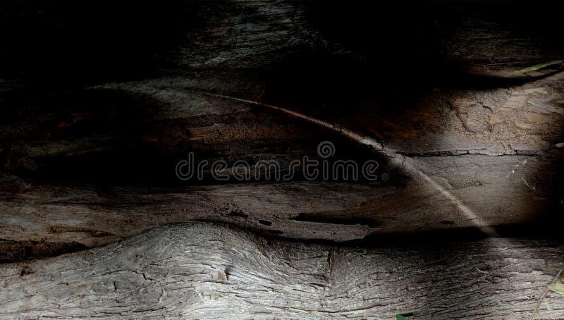 Fondo strutturato protetto grigio di legno dell'estratto con gli effetti della luce wallpaper fotografia stock libera da diritti