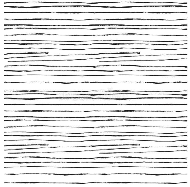 Fondo strutturato a strisce dell'irregolare astratto Reticolo senza giunte illustrazione vettoriale