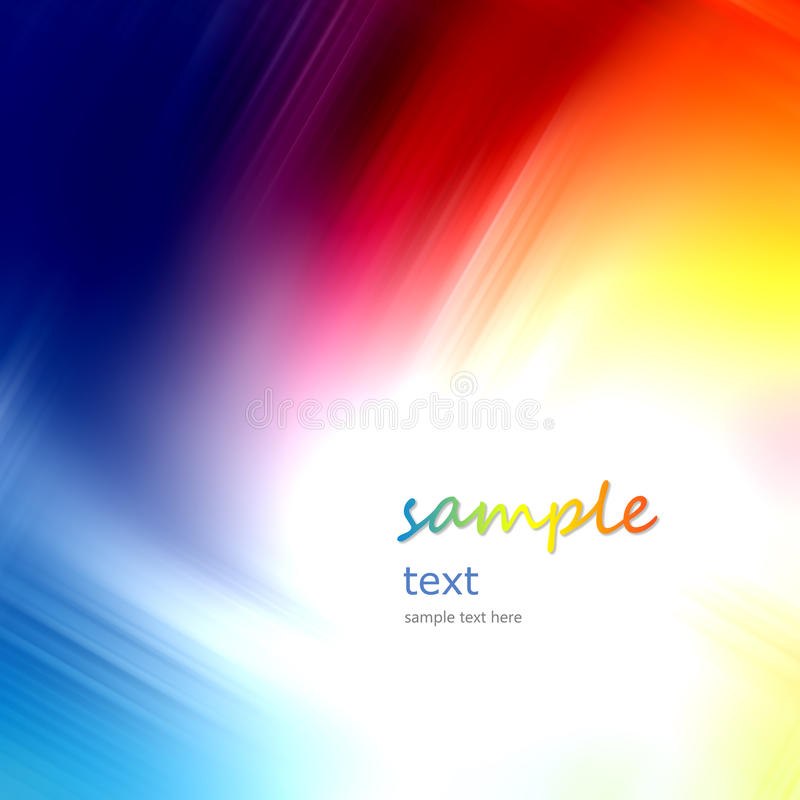 Fondo suave azul multicolor abstracto ilustración del vector