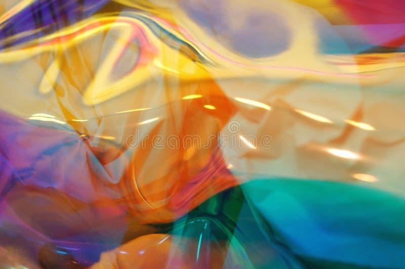 Fondo suave coloreado multi brillante del foco de la textura olográfica del extracto foto de archivo