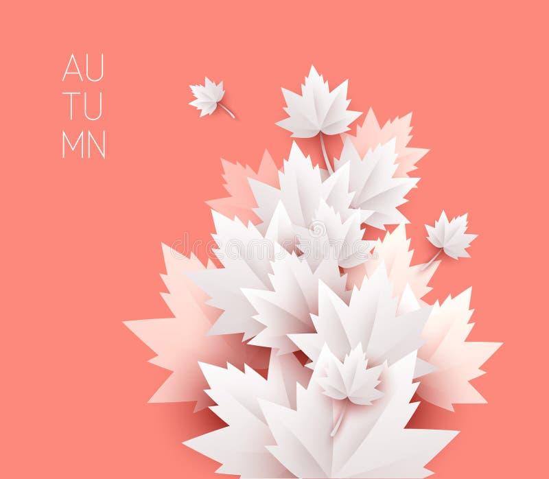 Fondo suave del color de las hojas de otoño ilustración del vector