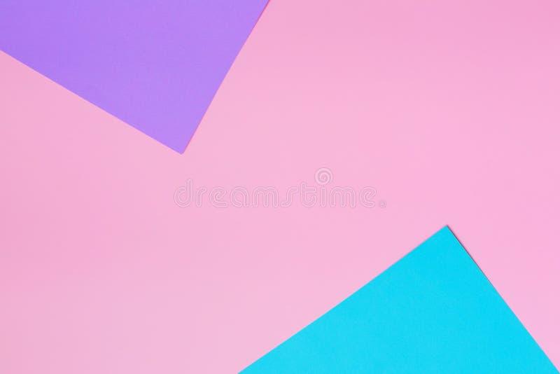 Fondo suave del rosa, azul y púrpura Textura colorida Concepto mínimo Concepto creativo Arte pop Estilo dulce brillante de la mod foto de archivo libre de regalías