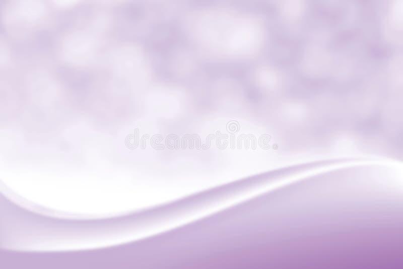 Fondo suave elegante púrpura liso borroso de la belleza, sombra cosmética lujosa de la luz suave de Bokeh del contexto, tono del  stock de ilustración