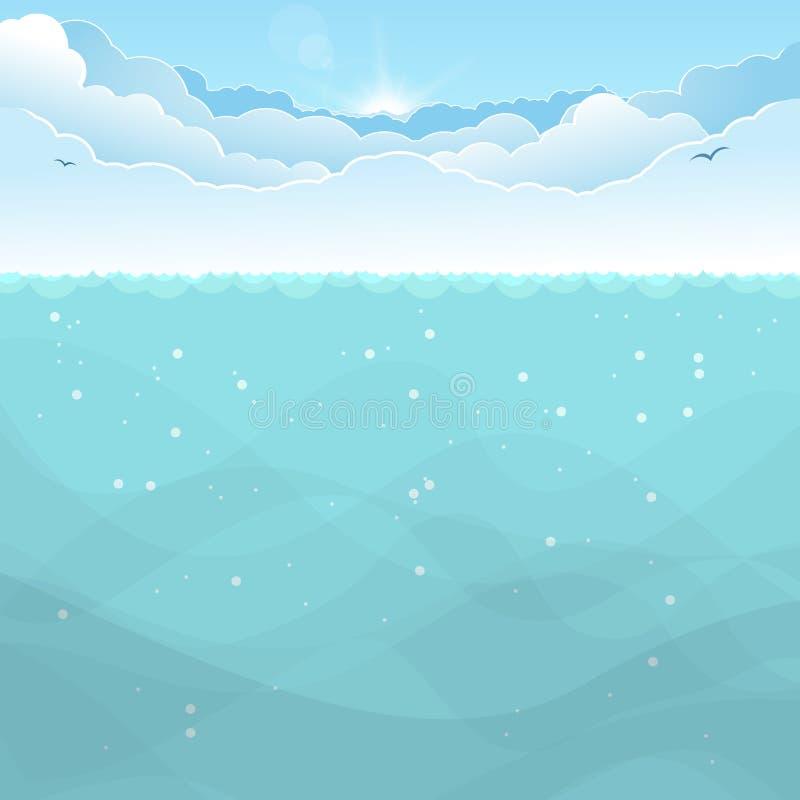Fondo subacqueo dell'oceano royalty illustrazione gratis
