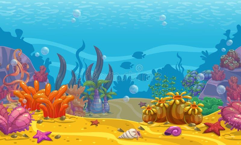 Fondo subacqueo senza cuciture del fumetto royalty illustrazione gratis
