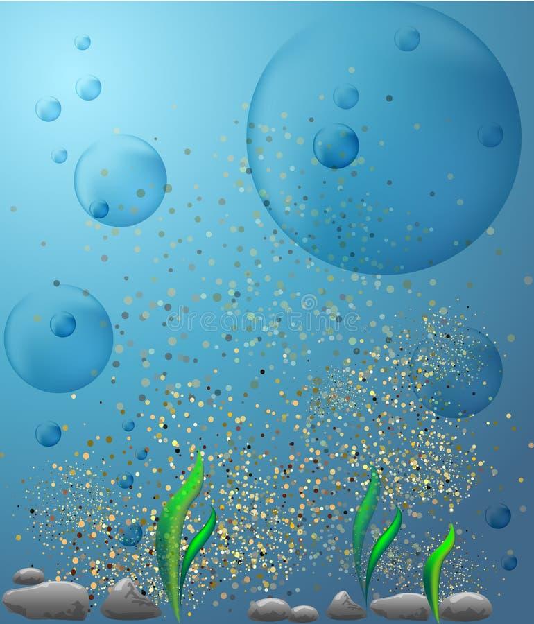 Fondo subacuático de la visión stock de ilustración