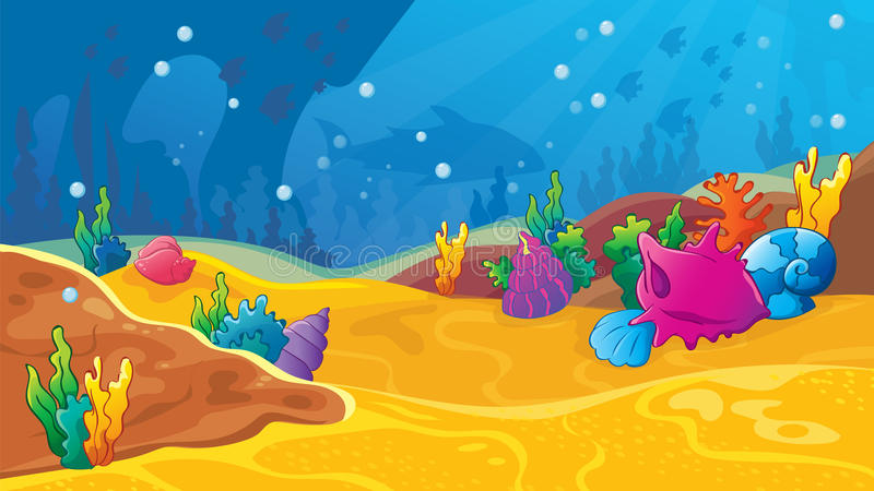 Fondo subacuático del juego foto de archivo