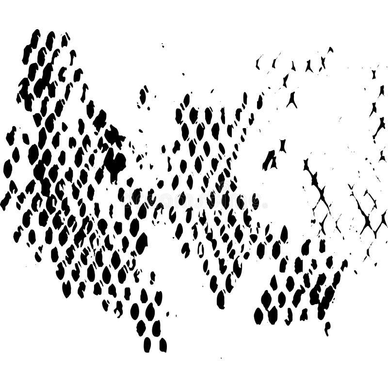 Fondo sucio del polvo blanco y negro del Grunge stock de ilustración