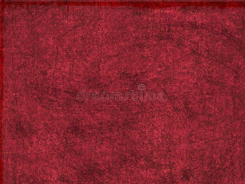 Fondo sucio rojo ilustración del vector