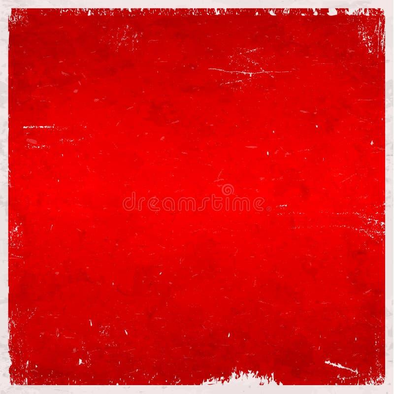 Fondo sucio temático de la Navidad roja ilustración del vector