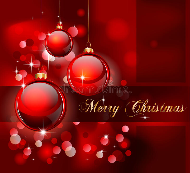 Fondo sugestivo elegante de la Feliz Navidad ilustración del vector