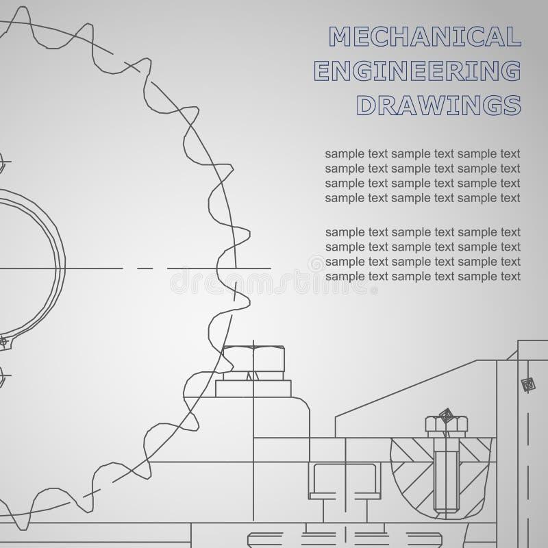 Fondo sujeto del vector Ingeniería industrial stock de ilustración