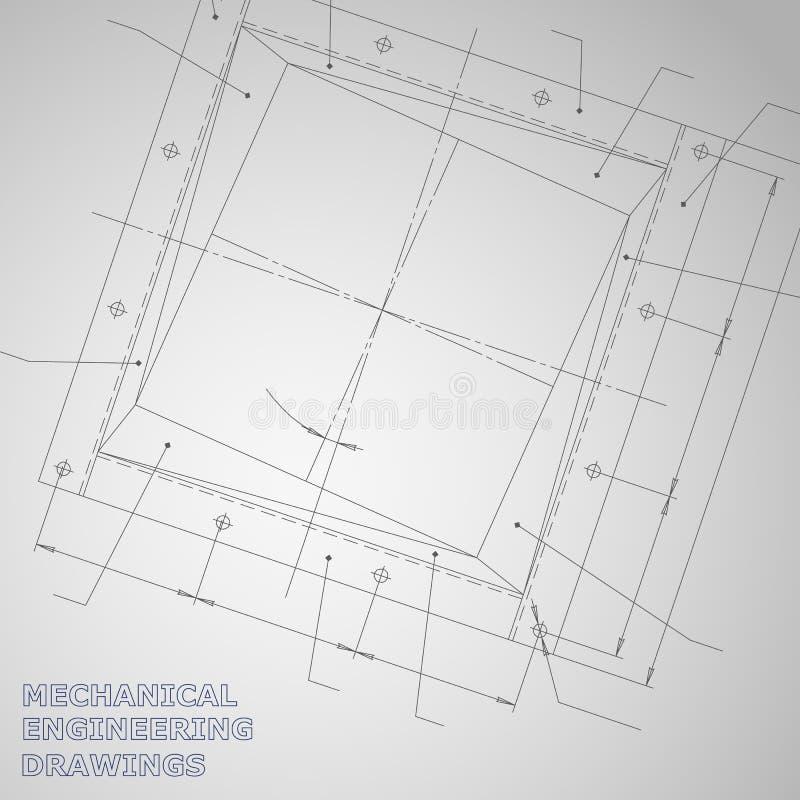Fondo sujeto del vector Ingeniería industrial libre illustration