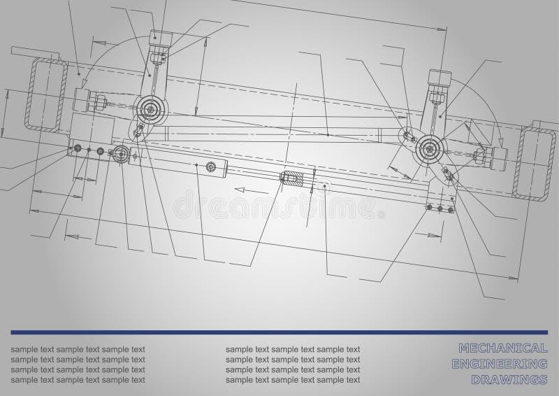 Fondo sujeto del vector Ingeniería industrial ilustración del vector