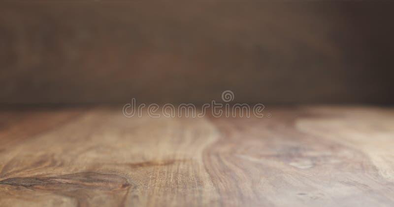 Fondo superficial de madera del palo de rosa del vintage en la opinión de perspectiva imagenes de archivo
