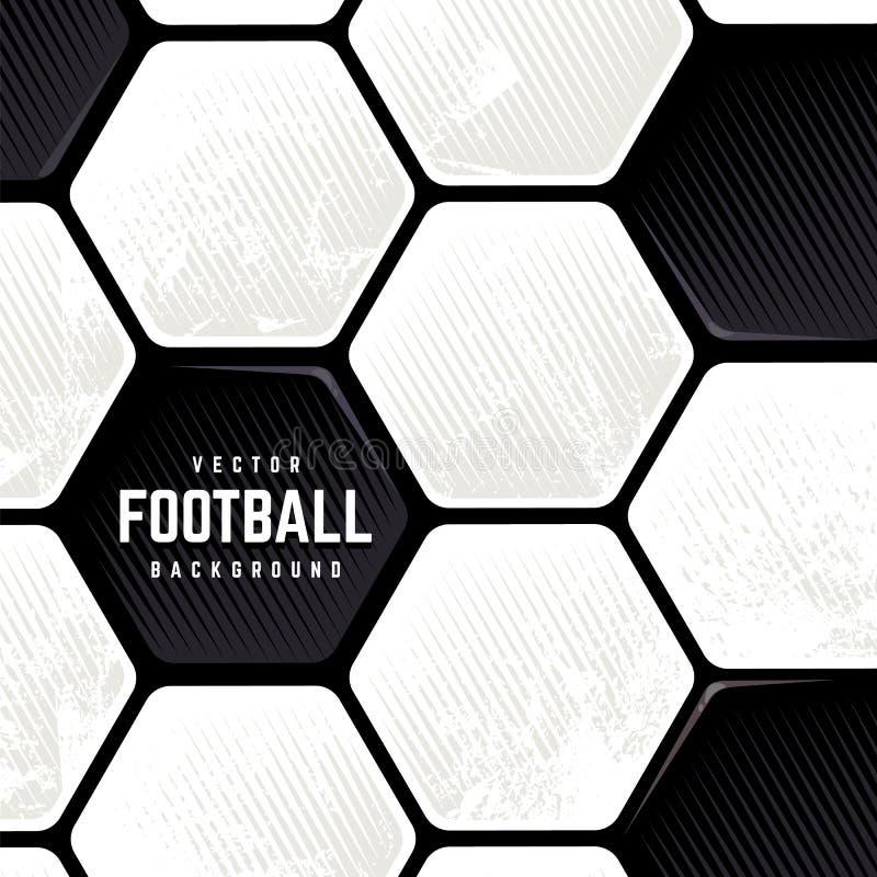 Fondo superficial del balón de fútbol del Grunge stock de ilustración