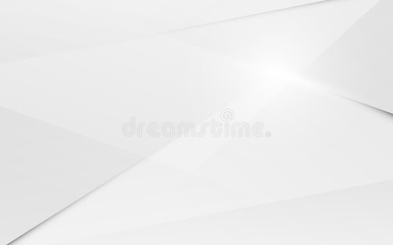 Fondo superficial poligonal caótico moderno blanco 3d del extracto vector del ejemplo ilustración del vector