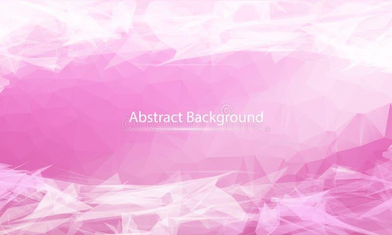 Fondo superficial poligonal del rosa del extracto Diseño polivinílico bajo de la malla con el punto y la línea de conexión Estruc libre illustration