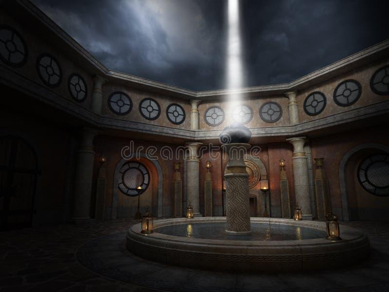 Fondo surrealista del renacimiento espiritual de la fantasía ilustración del vector