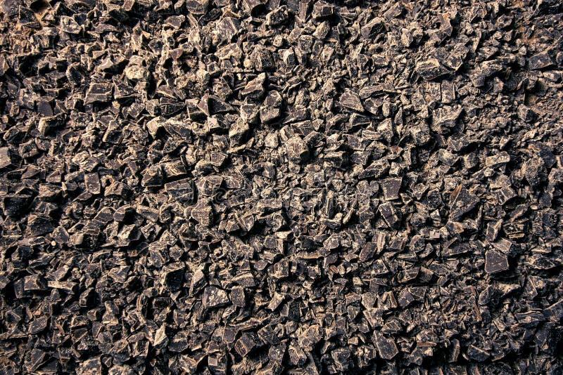 Fondo tagliato del cioccolato fondente fotografia stock