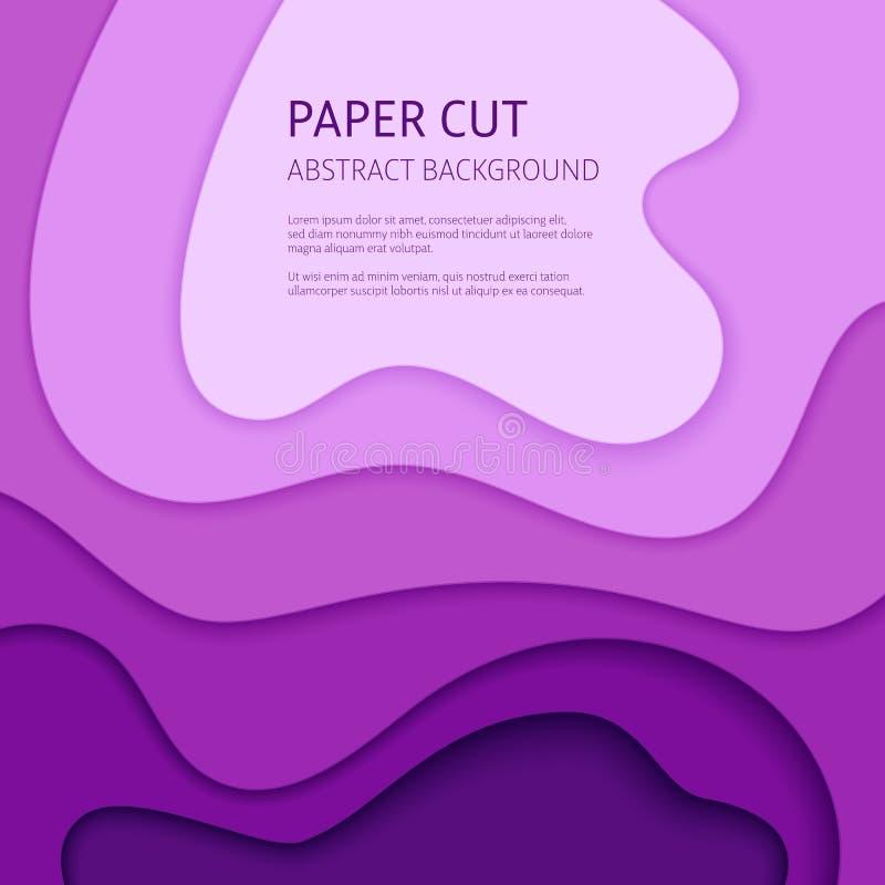 Fondo tagliato di carta dell'estratto di vettore illustrazione vettoriale